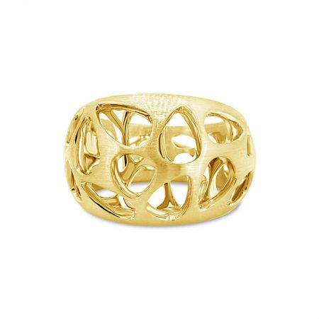 Yellow Gold Wide Tapered Dress Ring