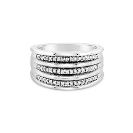 White Gold And Diamond Dress Ring