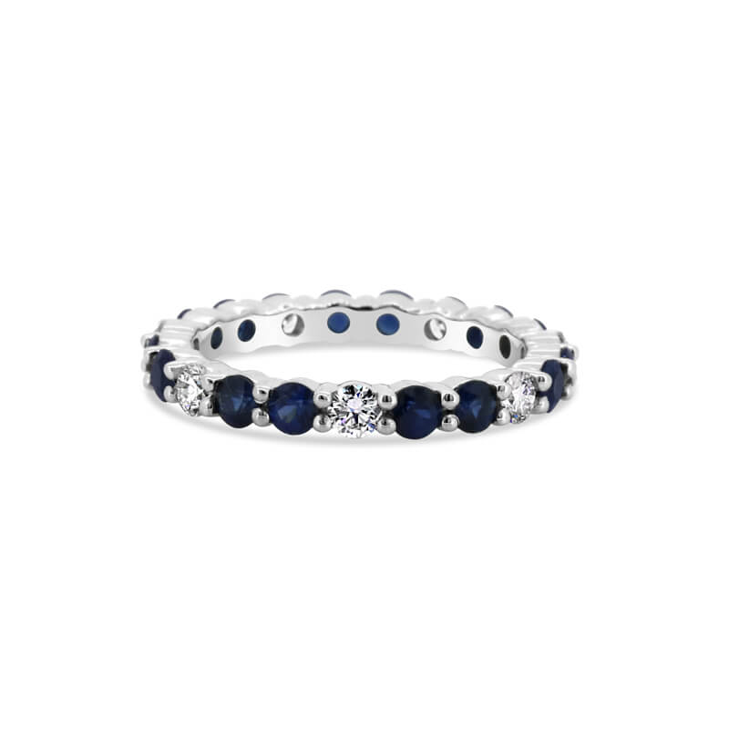 Platinum Sapphire And Diamond Eternity Ring