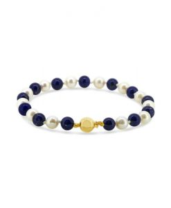Lapis Lazuli And Cultured Pearl Bracelet