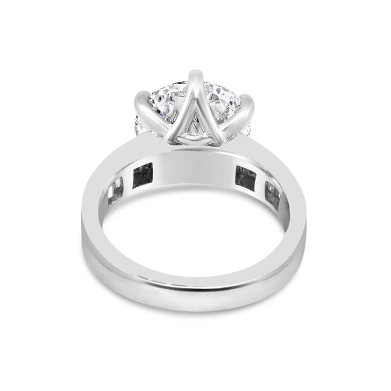 Platinum Diamond Engagement Dress Ring