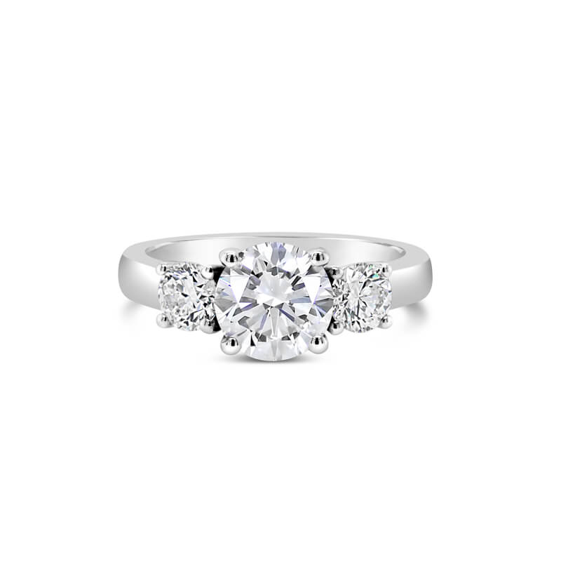 White Gold Diamond Trilogy Engagement Ring