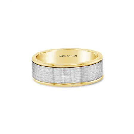 Two-Tone Yellow And White Gold Wedding Band