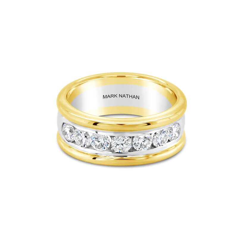 Two-Tone Yellow And White Gold Diamond Ring