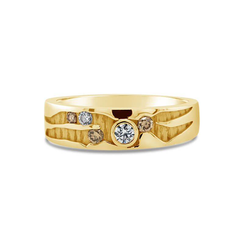 'Australian Outback' Yellow Gold Diamond Dress Ring
