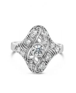 Platinum Diamond Set Art Deco Dress Ring