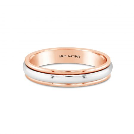 Two-Tone Rose And White Gold Wedding Band