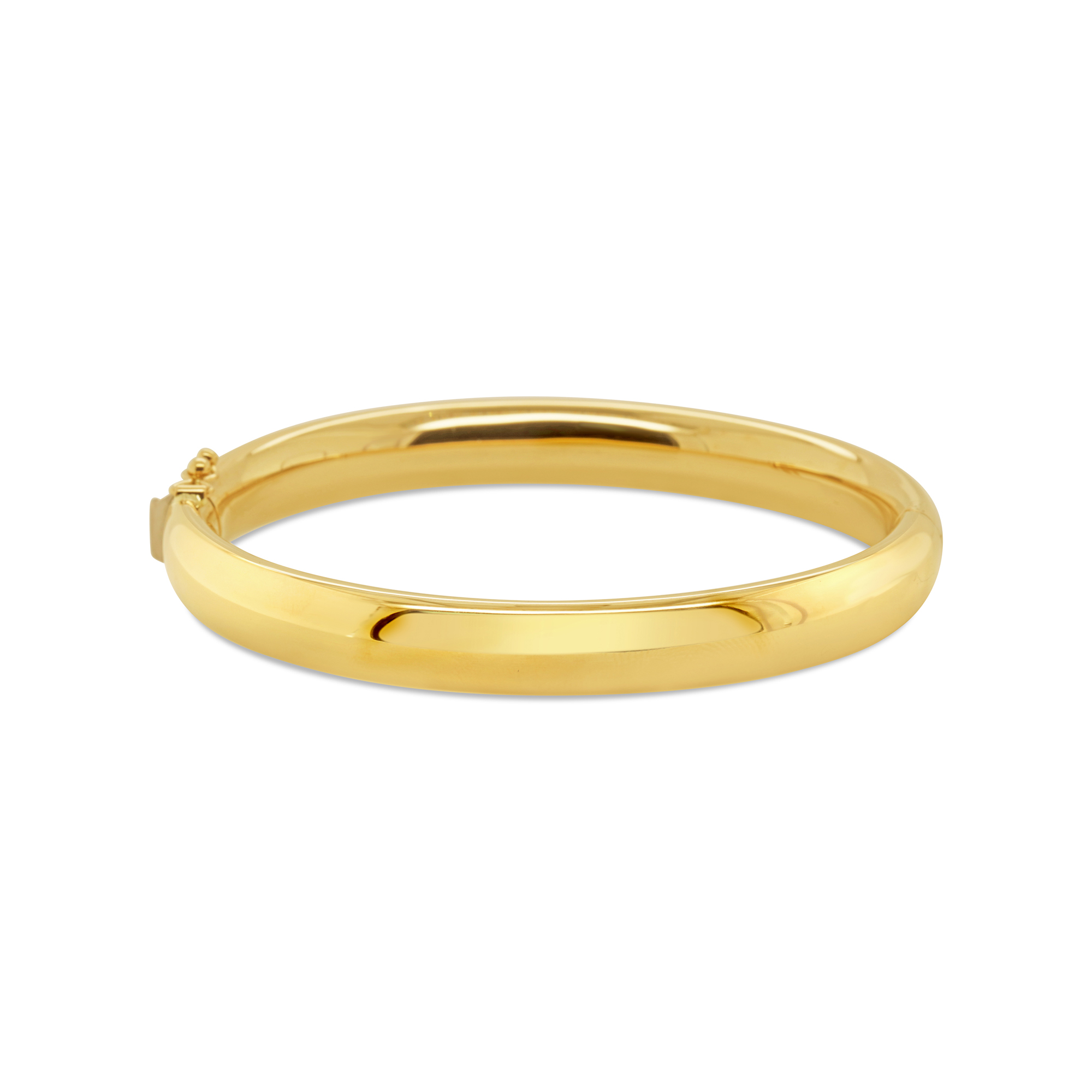 Yellow Gold Oval Shaped Bangle